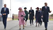 The Queen and Prince William visit the Defence Science and Technology Laboratory in southern England.