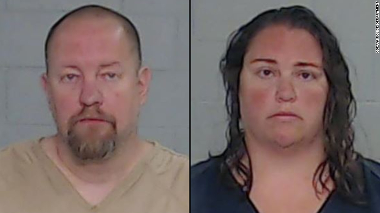 Two people were charged with murder after forcing a girl to jump on a trampoline as punishment, police say