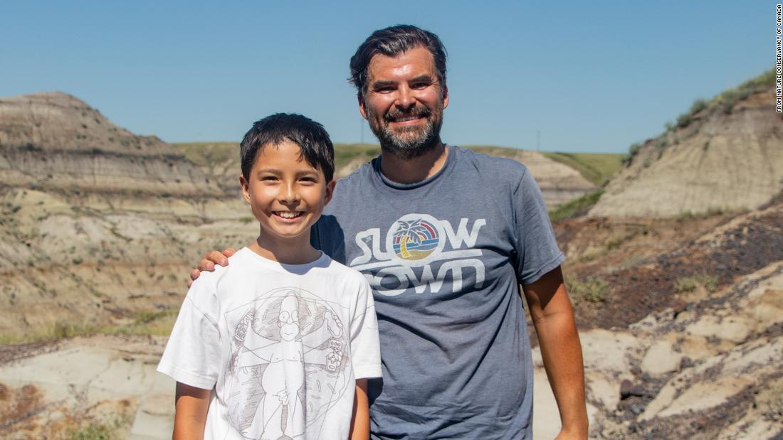 A 12-year-old found a 69 million-year-old dinosaur fossil while hiking with his dad