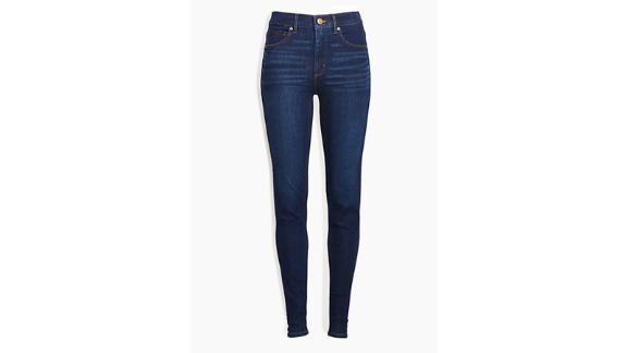 Loft Petite Curvy Skinny Jeans In Classic Dark Indigo Wash
