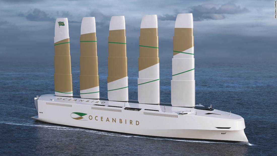 Sweden's new car carrier is the world's largest wind-powered vessel