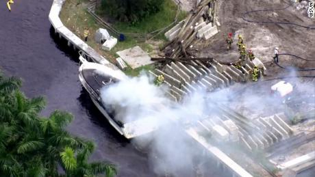 A boat that had 21 occupants on board exploded on Thursday in Fort Lauderdale, Florida.