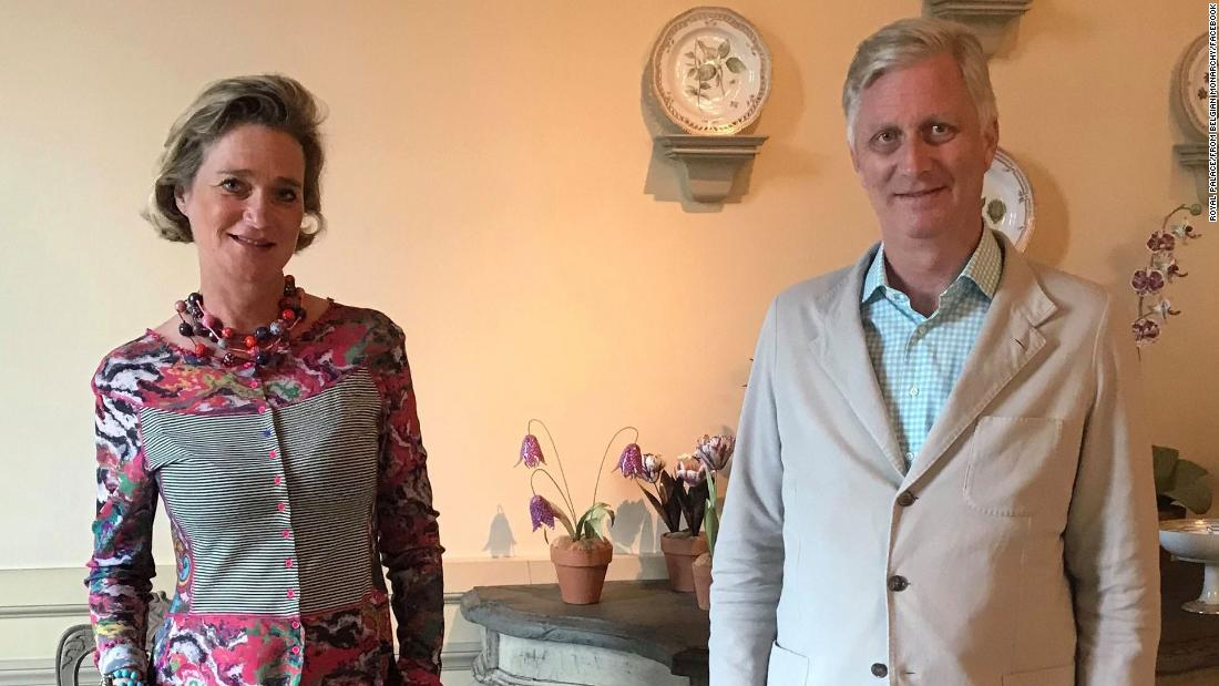 Belgian King meets with his once-secret half-sister for the first time, after years of legal wrangling