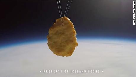 Iceland launched a chicken nugget into space to celebrate the supermarket's 50th anniversary.