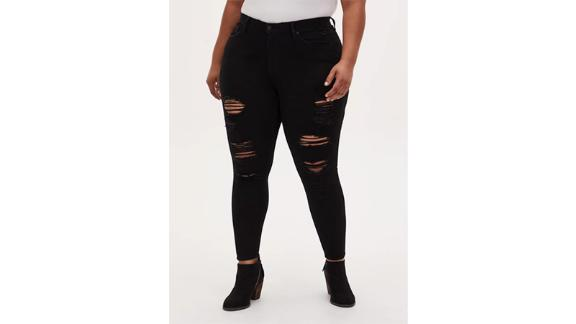 Torrid Sky High Skinny Jeans in Premium Stretch Black