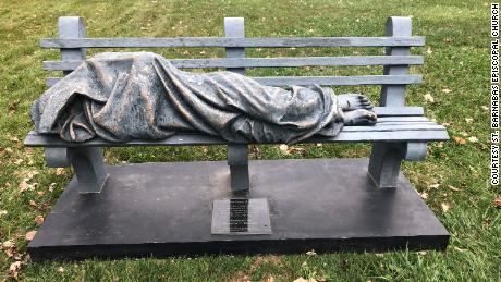 "Realistic 'Homeless Jesus' statue inspires call to police. Father Alex Martin hopes the ""Homeless Jesus"" statue encourages conversations in his community and inspires residents to help people in need."