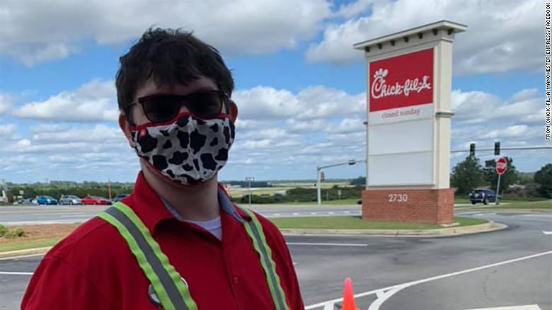 A Chick-fil-A employee saved a boy from choking in the drive-thru line