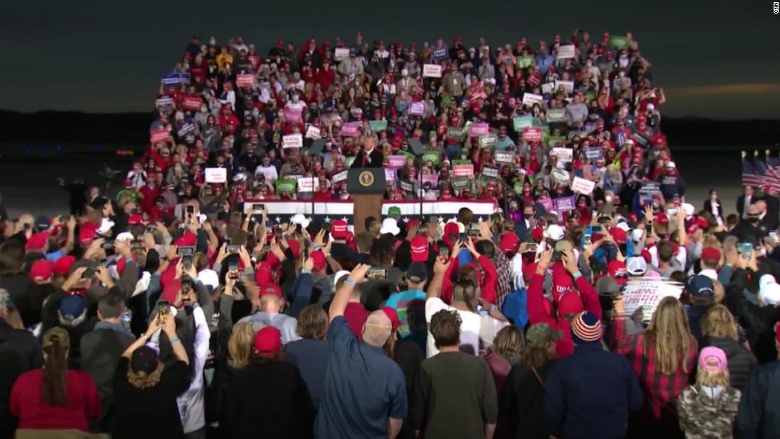 How vulnerable to Covid-19 are supporters at Trump's rallies?