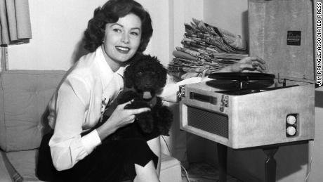 Rhonda Fleming in 1955 in Italy.
