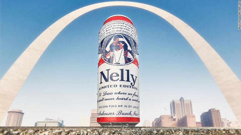Nelly is appearing on a line of limited-edition Budweiser cans