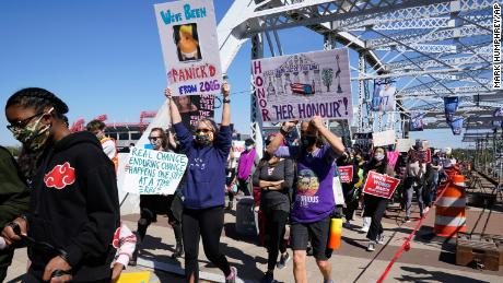 Dozens of women's rallies were scheduled across the country in March, including one in Nashville, Tennessee.