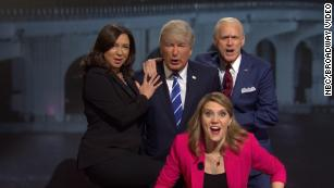 'SNL' takes on the dueling town halls between Trump and Biden