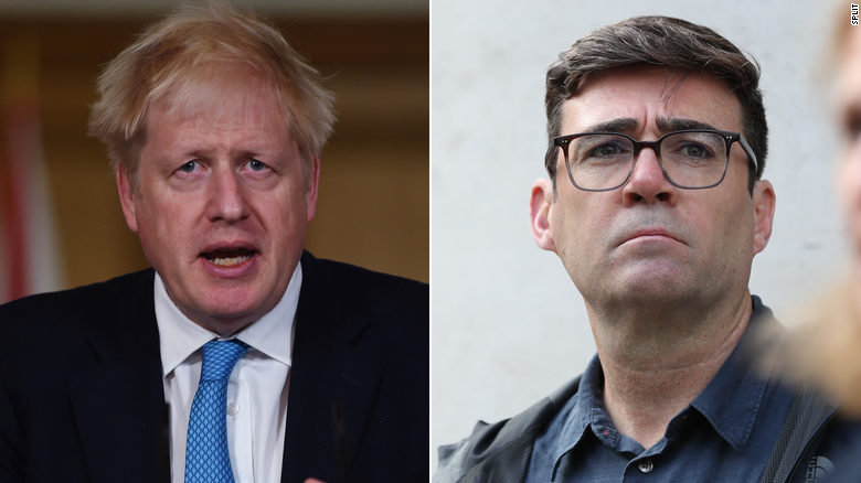 Boris Johnson and Manchester mayor at odds over new restrictions