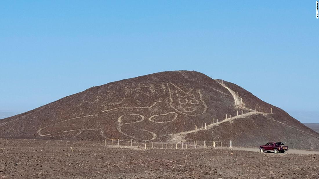 Archaeologists discover ancient geoglyph of a cat