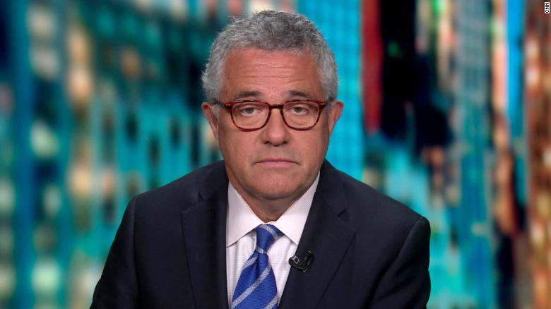 Jeffery Toobin appears on CNN on October 13.