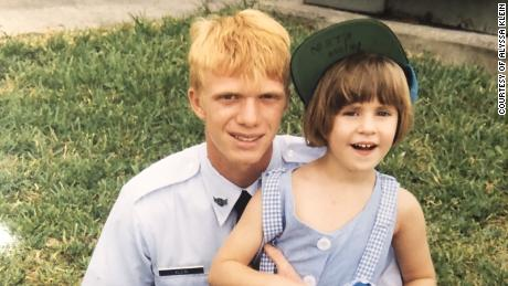 Alyssa Klein and her brother, David, in 1994.