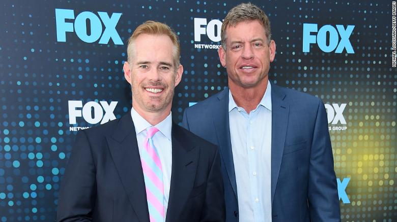 Broadcasters Joe Buck and Troy Aikman caught on hot mic appearing to mock military flyovers as wasteful