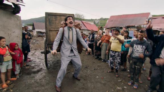 Sacha Baron Cohen in 'Borat Subsequent Moviefilm' (Courtesy of Amazon Studios).