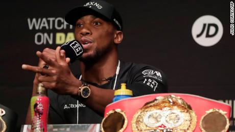 British boxer Anthony Joshua had a message of support for protesters.
