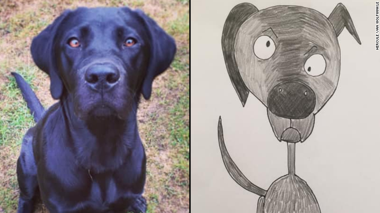 This dad's adorably amateurish pet portraits have raised thousands for charity