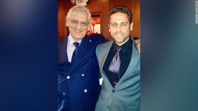 Alberto and Joaquin Perez in 2014 in Florida, at a dress rehearsal for Alberto's wedding.