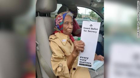 Ora Smith, 102, proudly submitted her absentee ballot this month for the 2020 presidential election. Born during the 1918 influenza pandemic, coronavirus couldn't stop her from safely voting.