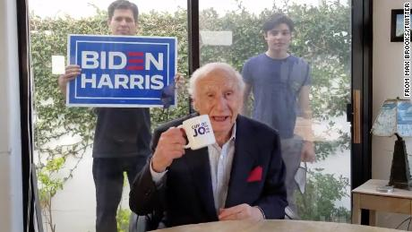 "Mel Brooks has something to say: ""Take a tip from me, vote for Joe."""
