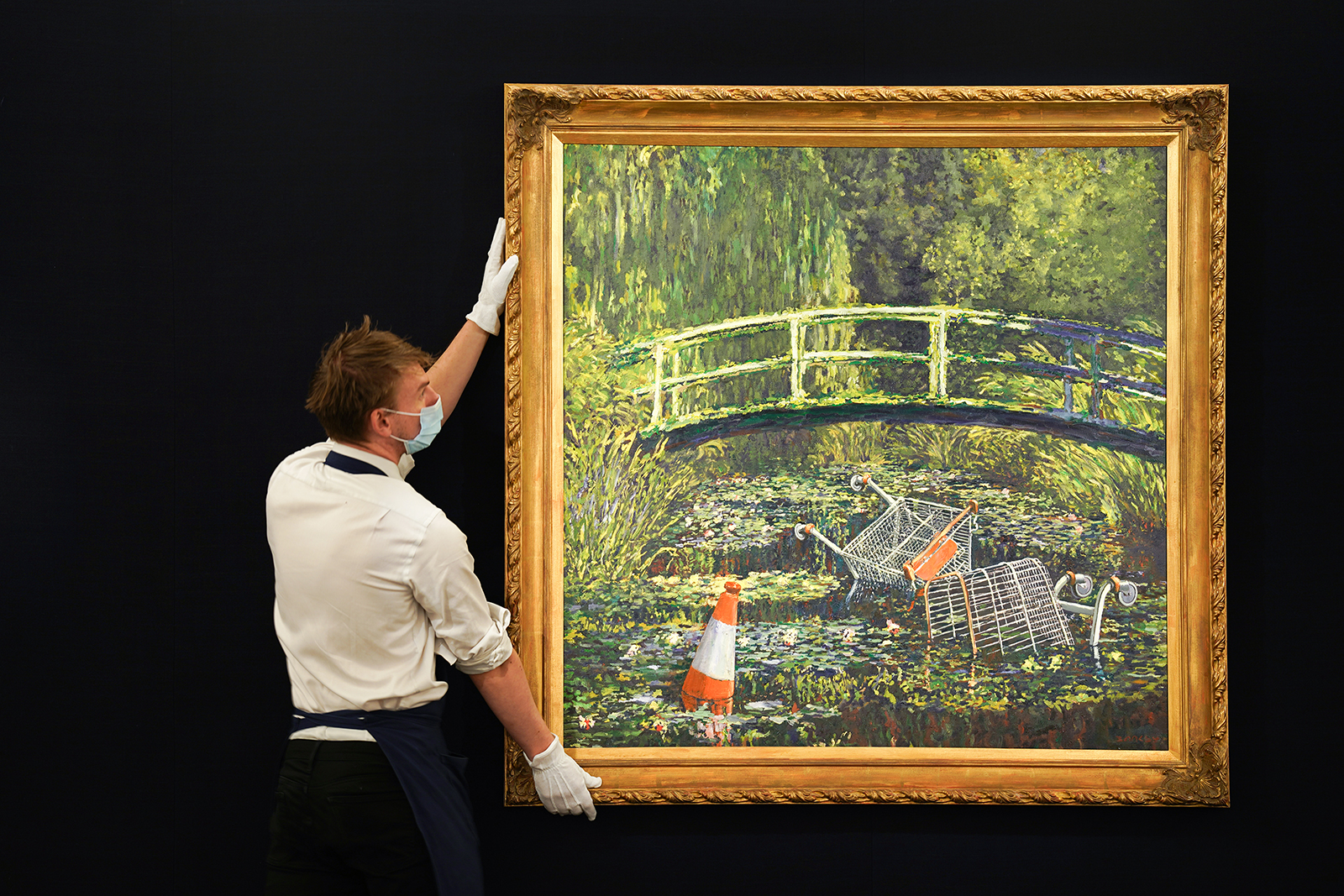 Banksy's 'Show me the Monet' painting sells for nearly $10 million - CNN  Style