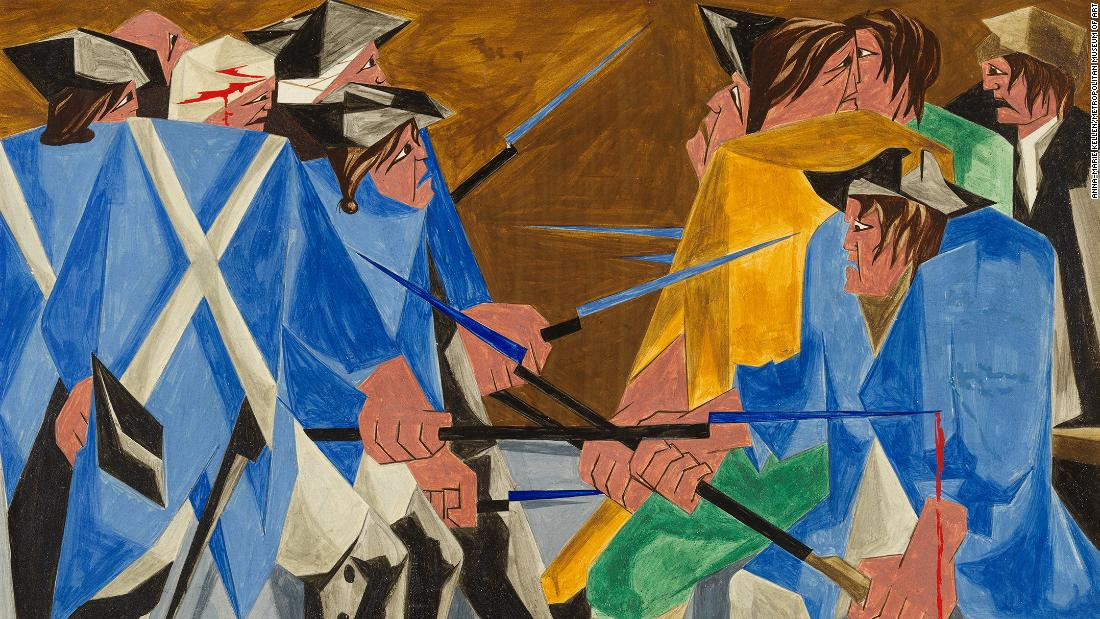 A missing painting by renowned Black artist Jacob Lawrence has resurfaced after 60 years