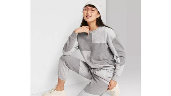 Wild Fable Oversized Crewneck Sweatshirt & High-Rise Vintage Jogger Sweatpants