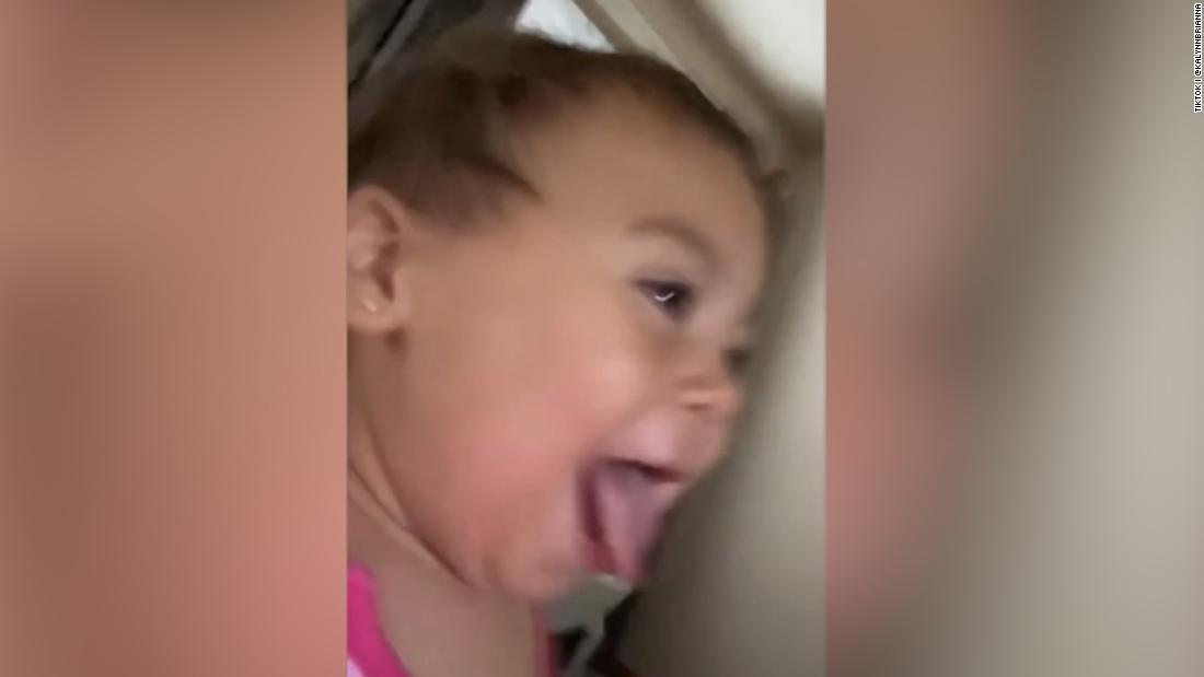 Toddler goes viral stealing mom's phone