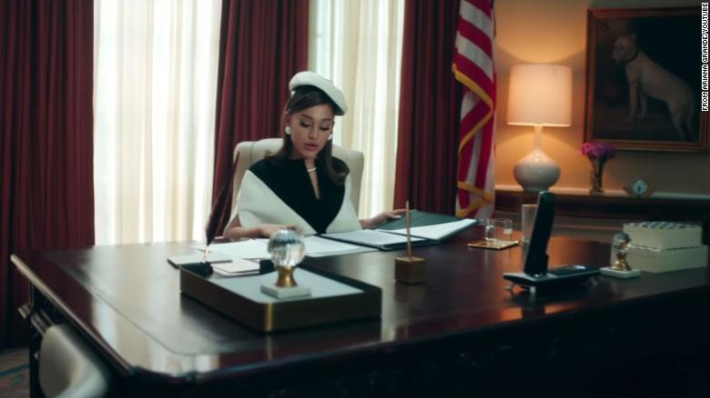 Ariana Grande imagines life in the White House in 'Positions' video