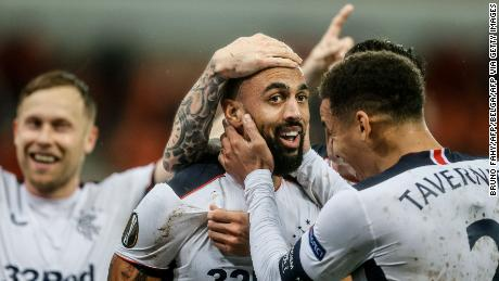 'The best goal I have ever seen live': Rangers striker Kemar Roofe scores miraculous effort from own half