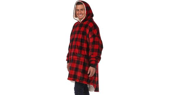 The Comfy Original Oversized Microfiber & Sherpa Wearable Blanket