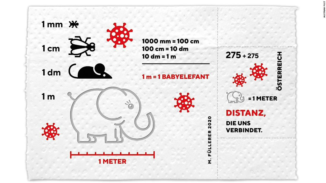 Austria's postal service is printing special Covid-19 stamps -- on toilet paper