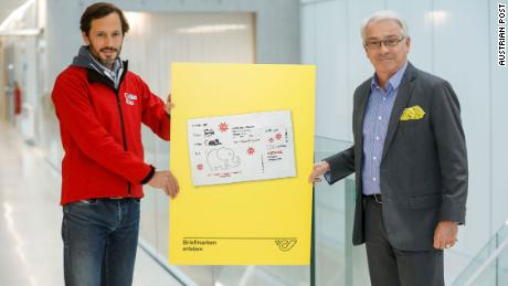 Austria Post will release 300,000 stamps on October 30.