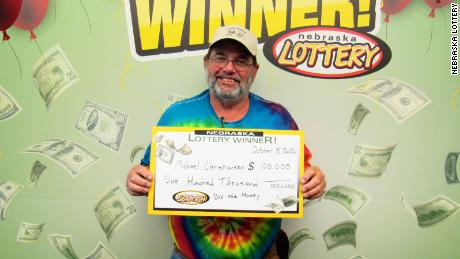 Michael Christiansen has won the jackpot in two Nebraska Lottery scratch games in 2020.