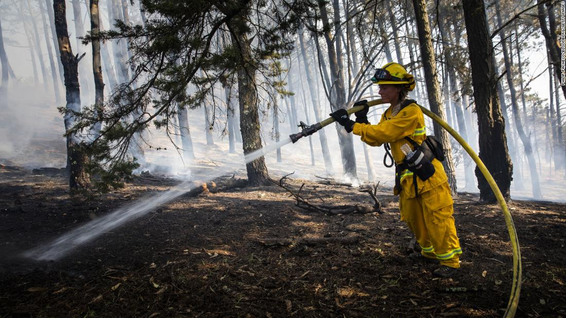 The National Weather Service issues a Red Flag warning for much of Northern California, which means damaging winds and extremely low humidity pose a severe risk for wildfires