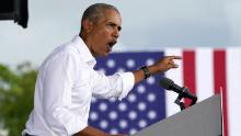 Obama in Florida: Trump's tough guy schtick is a fraud