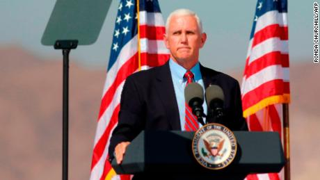 Vice President Mike Pence speaks at the & quot;  Make America Great Again '  March 8, 2020, in Boulder, Nevada.