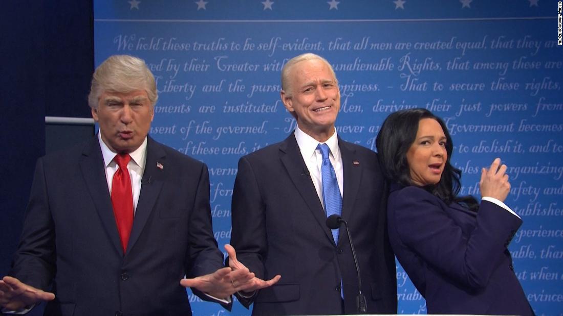 'SNL' has Baldwin's Trump and Carrey's Biden go head to head in the final debate