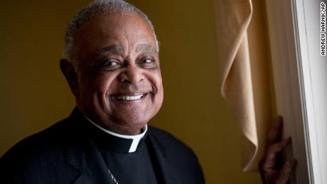 Archbishop Wilton Gregory poses for a portrait following mass at St. Augustine Church in Washington, DC on June 2, 2019.