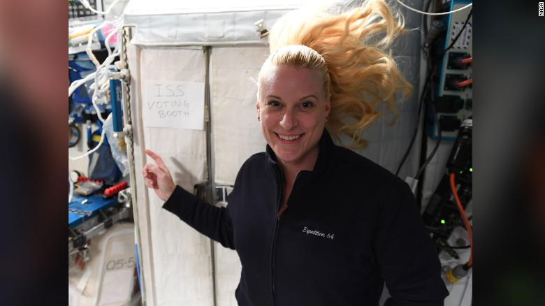 This American astronaut just voted from space. Here's how she did it