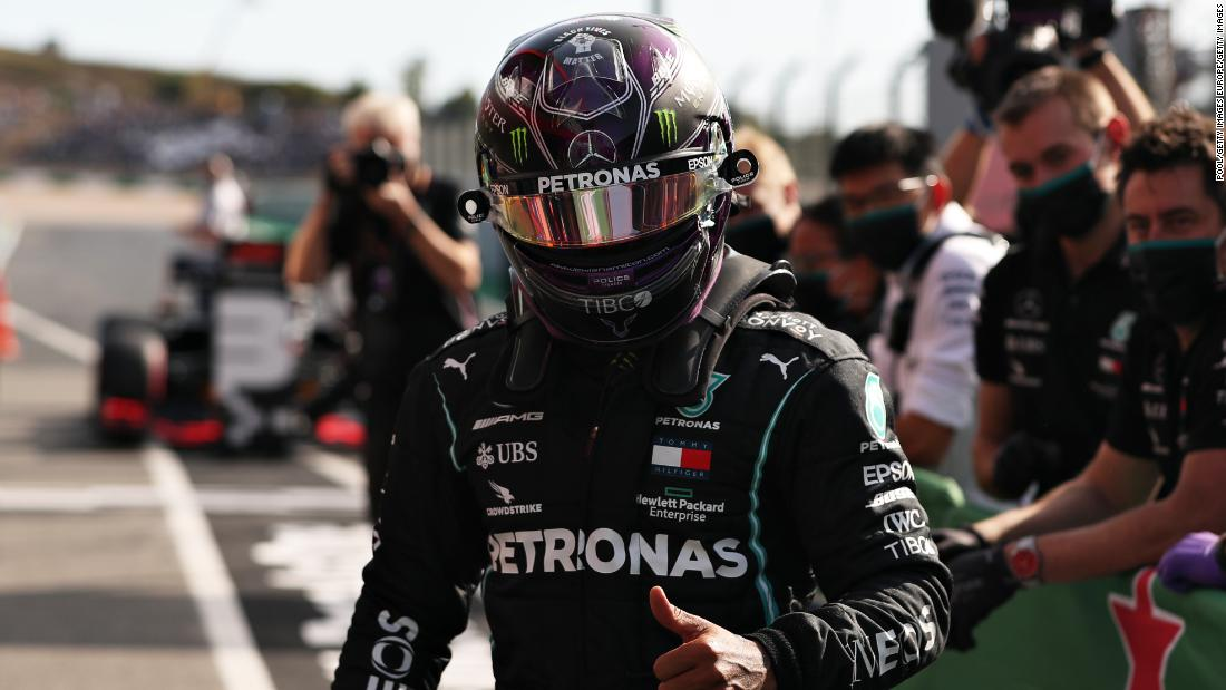 Six-time world champion Lewis Hamilton has broken Michael Schumacher's all-time Formula One win record after dominating the Portuguese Grand Prix