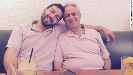 Bijan Ghaisar and his father, James