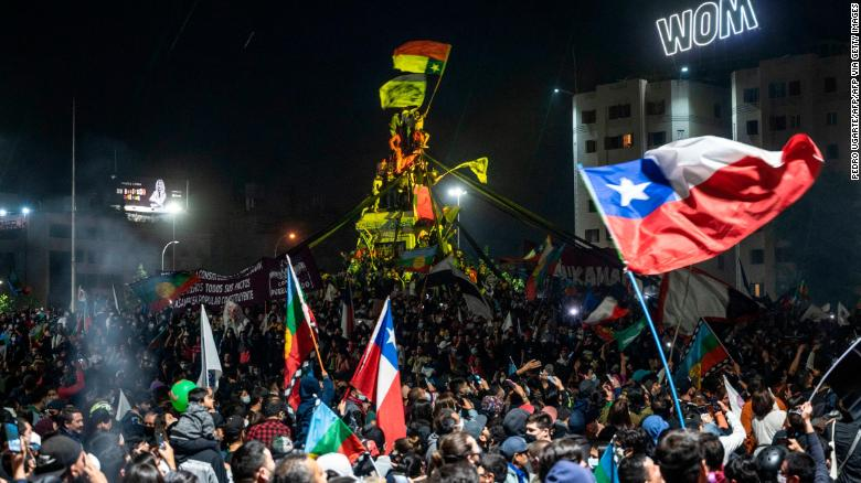 Chile's president hails 'triumph of democracy' as voters back scrapping dictatorship-era constitution