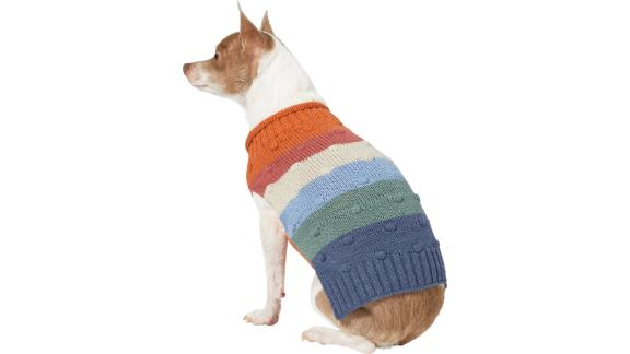 Wagatude Multicolored Chunky Bobble Striped Dog Sweater