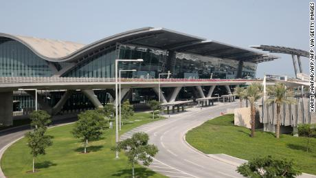 A picture taken on October 29, 2013 shows a terminal of Hamad International Airport in Doha.