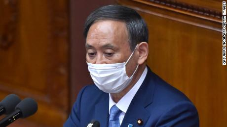 Japan's Prime Minister, Yoshihide Suga, unveils his climate policy in Parliament on Monday.
