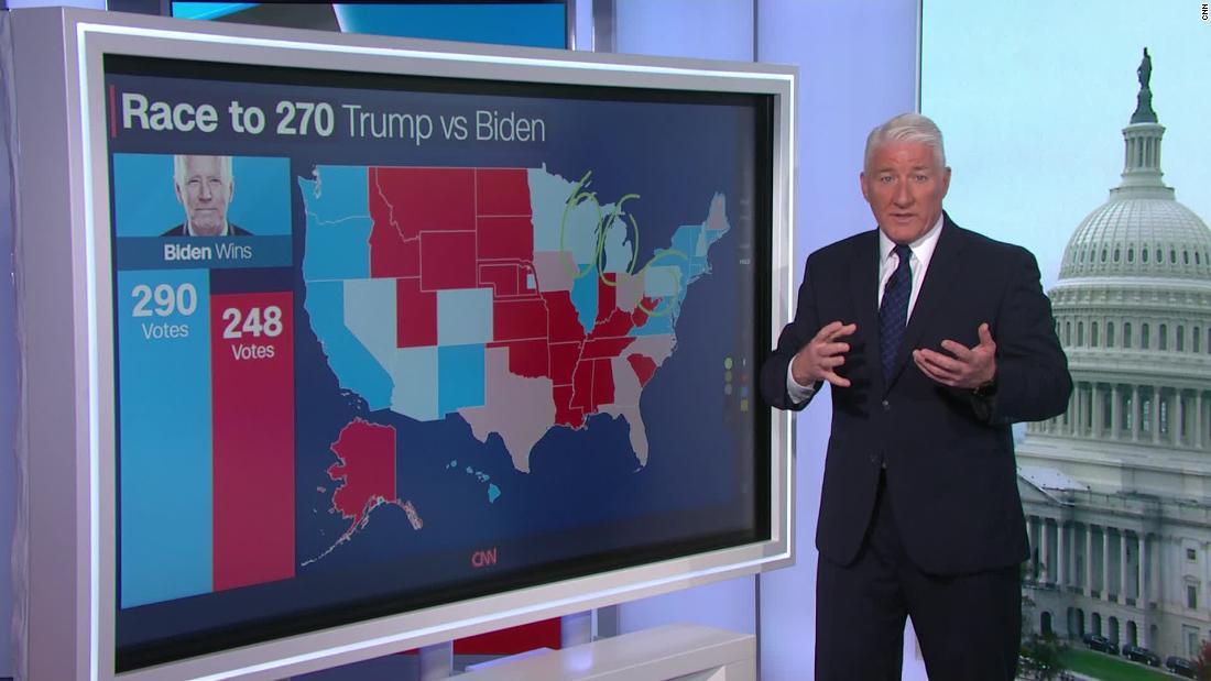 Biden is leading in these battleground states